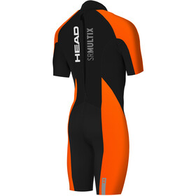 Head Swimrun Multix Shorty 2.5 Wetsuit Heren, zwart/oranje